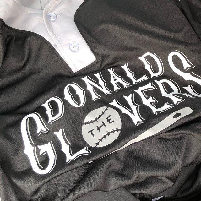New season. New name. New jerseys. The Donald Glovers AKA Childish Slambino win game 1.  #denverisforglovers #thedonaldglovers . . . . . @childishgambino #design #denver #softball #branding #handlettering #customtype #typography #vintagebaseball #designspiration #lettering #baseballdesign #jerseydesign