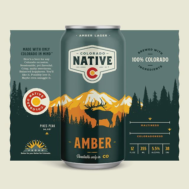It's share time! We started this in 2018 and we're finally in production. The rebrand for @coloradonative will start rolling out over the next several weeks. Amber is the flagship. The original Native. We built the rebrand on this rock. Isolating and simplifying the core equities and then amplifying them making sure to lay the ground work for the rest of the lineup. 9 beers and counting. 🍺🍺🍺🍺🍺🍺🍺🍺🍺 . . . . . #branding #rebranding #packagingdesign #craftbeer #ohbeautifulbeer #thedieline #colorado #5280 #denver #goldencolorado #beercanart #candesign #designspiration #denverfoodie #coloradobeer @ohbeautifulbeer @thedieline @designspiration