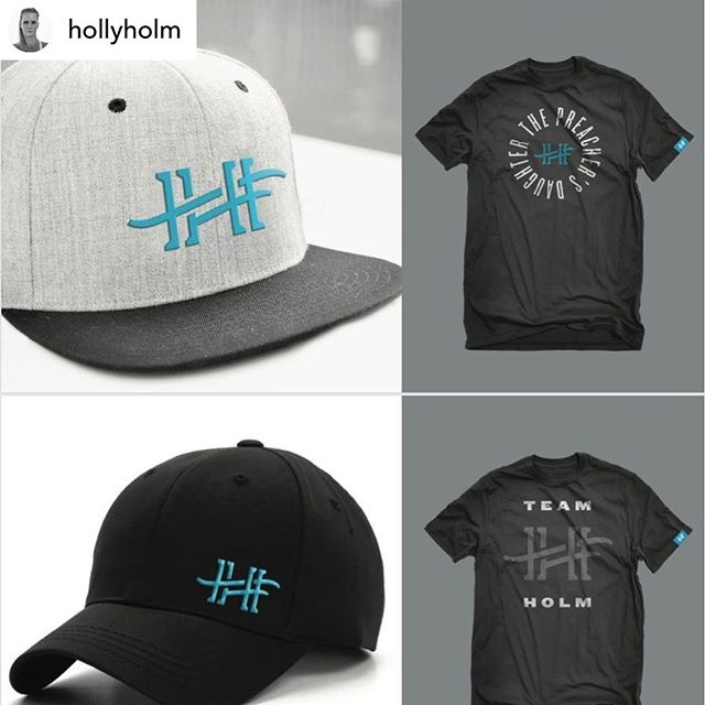 """Never say never. Sometimes clients just need a year or 2 to decide 🤷♂️ Pumped for this to go live just in time for Holly's title fight in July! . Repost • @hollyholm New HH logo!! Because I finally decided on one!! I literally have been wanting an """"HH"""" logo for years and I kept procrastinating. But now it's here and I'm super excited to share it with all of you!! Stay tuned for when apparel will be available! #hollyholm #teamholm"""