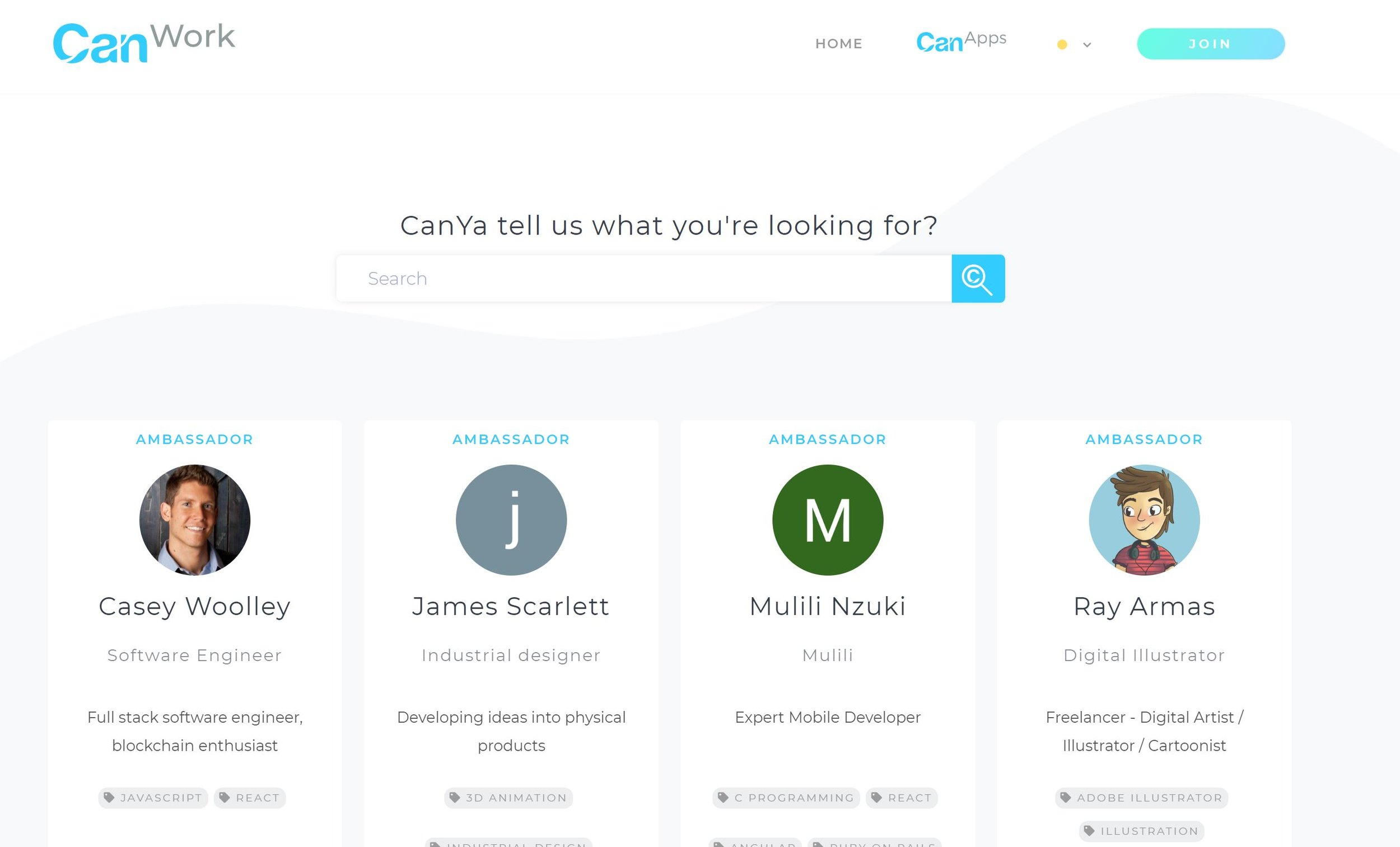 Project: Canwork - App #1 to launch in the CanYa ecosystemA decentralised marketplace for freelance professionals to exchange services. Backed by blockchain technology (smart contracts and hedged escrow), CanWork protects contract payments and facilitates a global freelance economy with only 1% fees.Artefacts coming soon