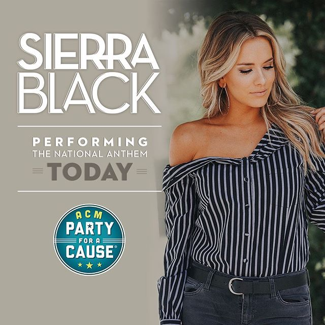 Can't wait to sing the national anthem today at @Stoneysrockincountry's #ACMParty! 🇺🇸