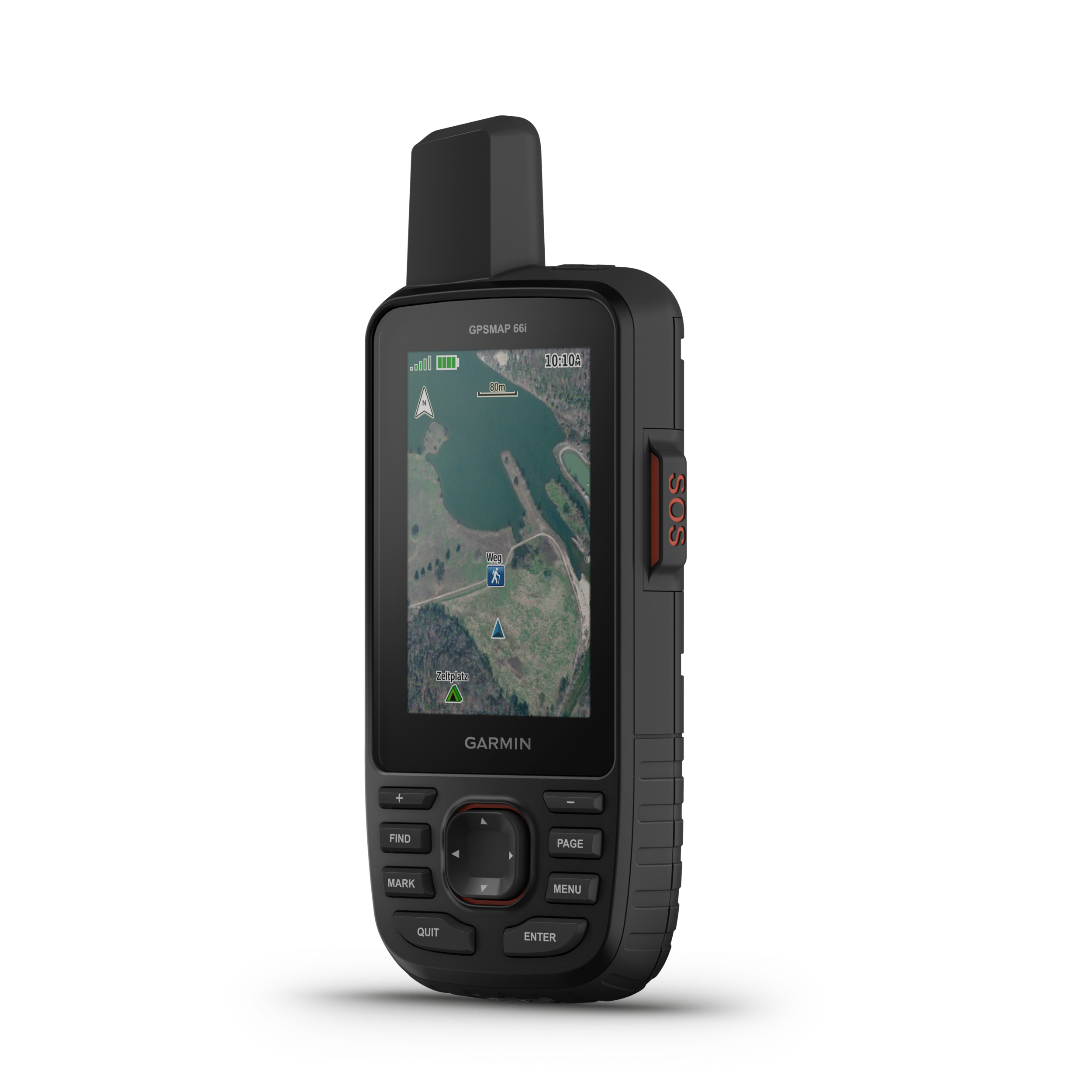 """GPSMAP 66I - The sturdy, button-operated GPSMAP 66i features a large 3"""" color display you can see even in bright sunlight. If you're out in the field for long stretches of time, you can turn on Expedition mode and get up to 200 hours of battery life while using inReach technology. In the default tracking mode, you get up to 35 hours of battery life, and your device will save your location every 10 minutes."""