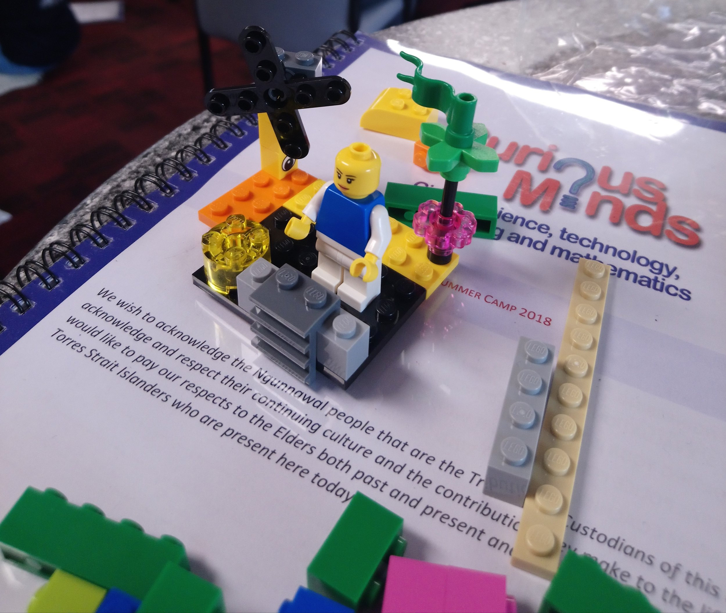 Curious Minds 2019: What mentoring looks like in lego! Emily and I build a small model of the mentoring relationship as we perceive it - think bridges being climbed, flags being raised, etc!