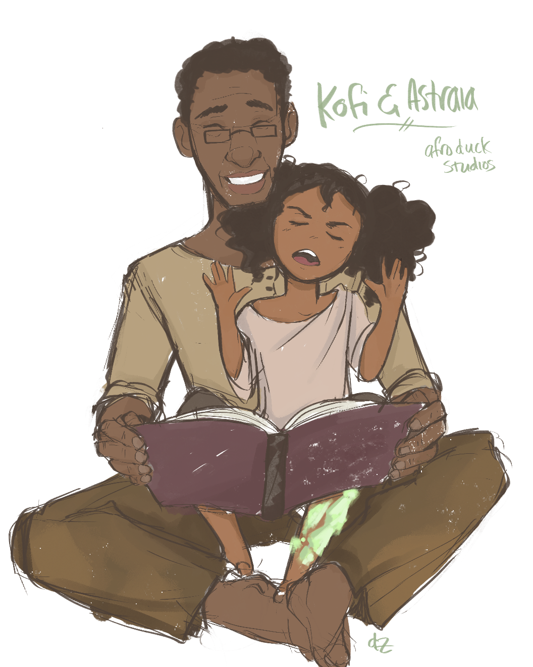 Concept Design of Kofi and Young Astraia (Designed by Yayira Diaz)