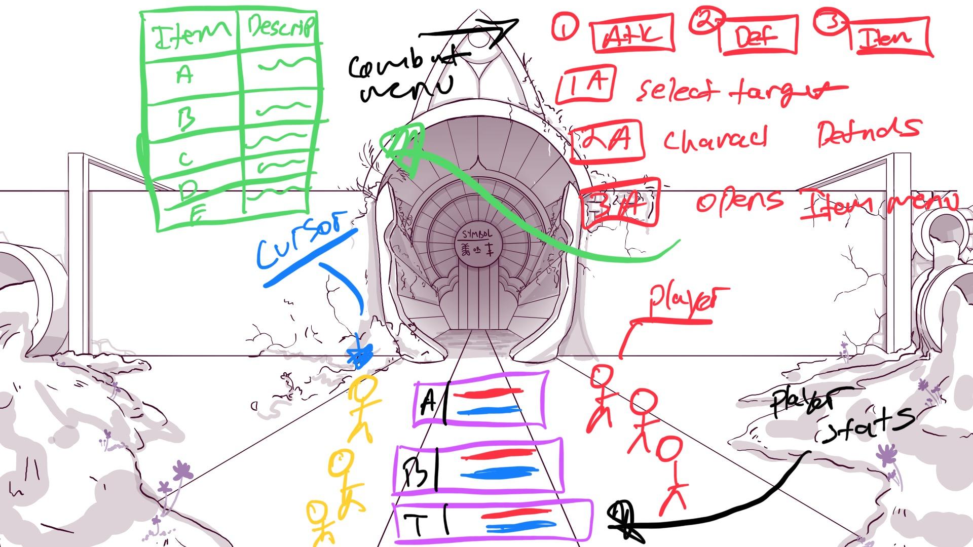 Combat UI Design Concept