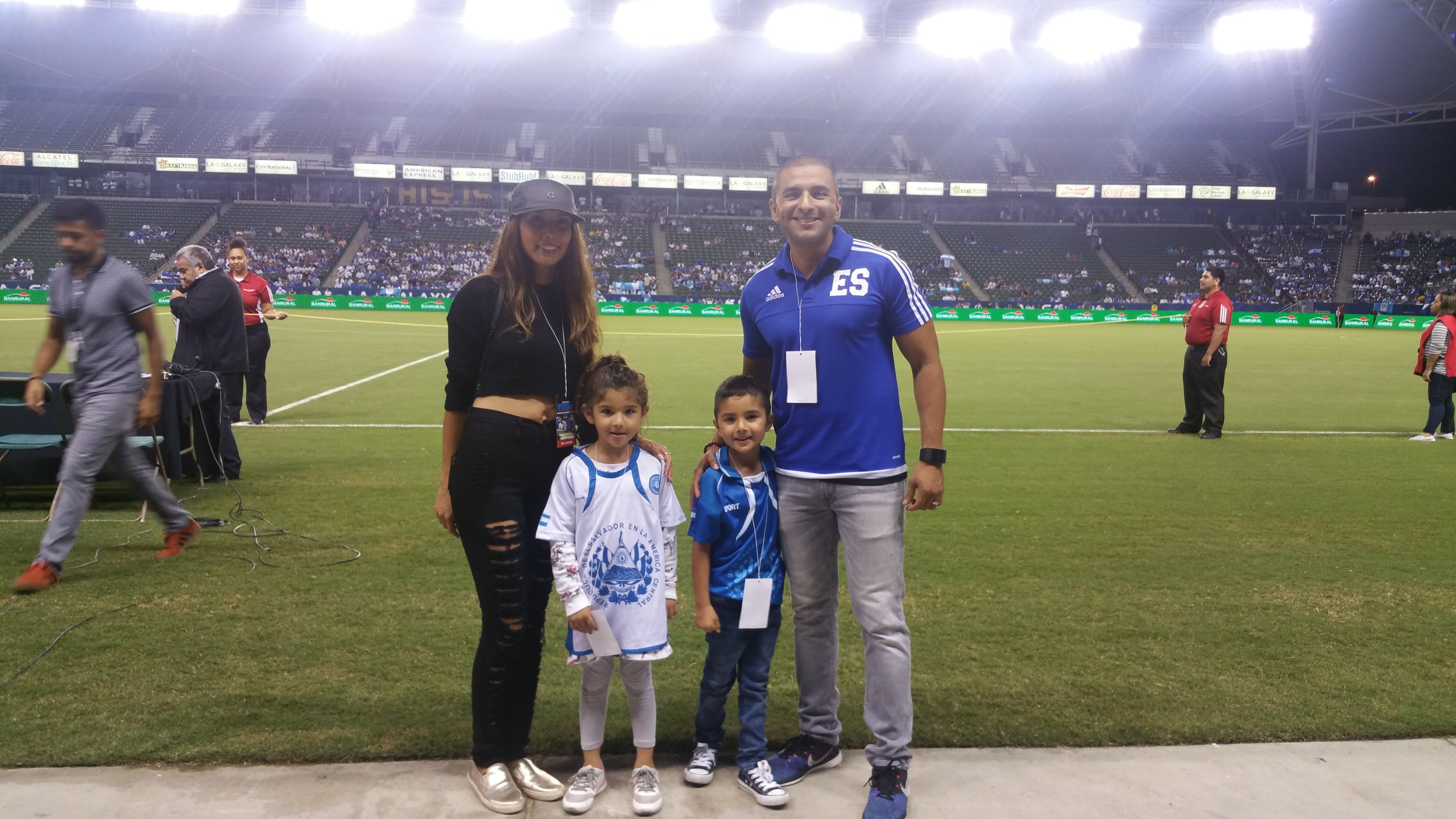 MC at El Salvador vs Quatemala Soccer Game