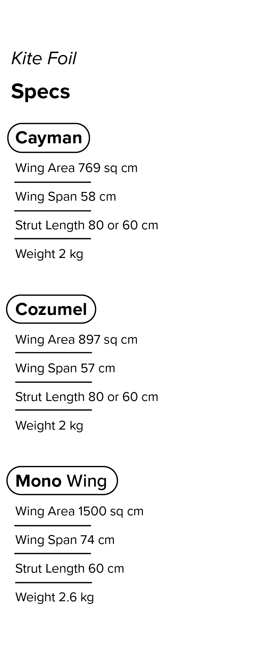 KIte Specs chart.png