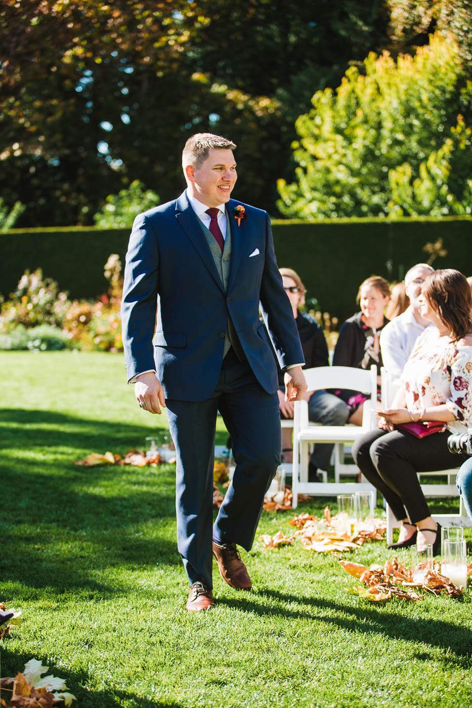 groom Victoria BC Wedding Photography - Hatley Castle Wedding Photography - Bear Mountain Wedding Photography
