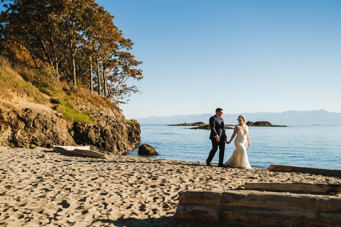 Jon-Mark Photography Victoria BC Wedding Photography - Hatley Castle Wedding Photography - Bear Mountain Wedding Photography bride groom beach