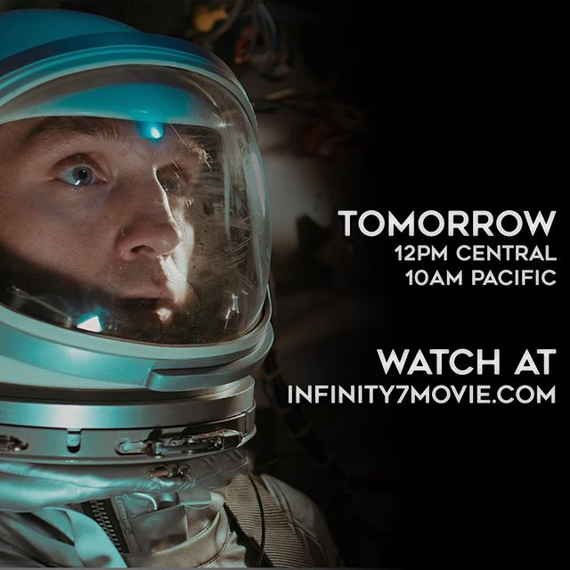 Join us tomorrow at 12pm Central / 10am Pacific for the premiere of Infinity 7! Watch on our website at infinity7movie.com  Our YouTube chat is up and we'll be chatting with you all through the premiere! Hope to see you there! . . . #mercuryproject #infinity7 #projectmercury #nasa #film #motionarts #capsule #spacecraft #vfx #aftereffects #visualeffects #space #spaceexploration #astronaut #earth #spacecraft #mercury #filmmaking #filmfestival #premiere #youtube