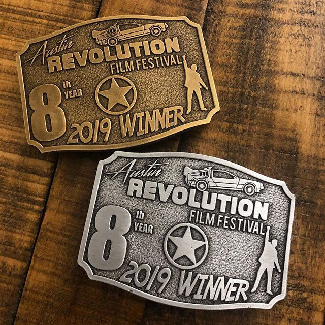 Our awards from @austinrevolution! #filmfestival #awards #filmfestivalawards #arff2019