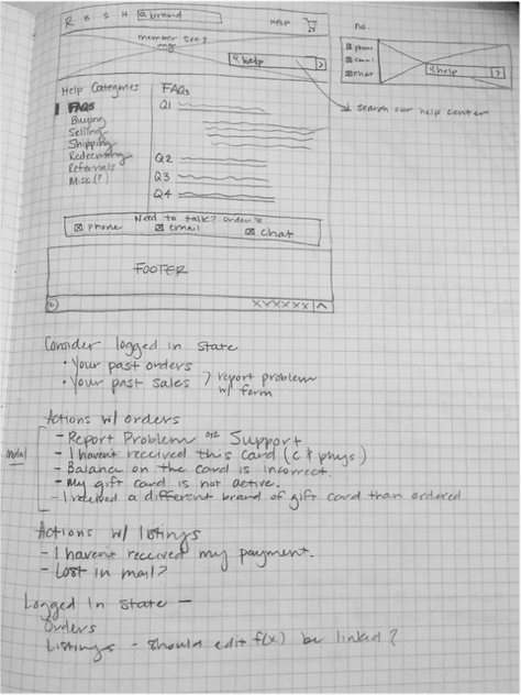 As copy and IA came together, I turned to sketching to ideate quickly.