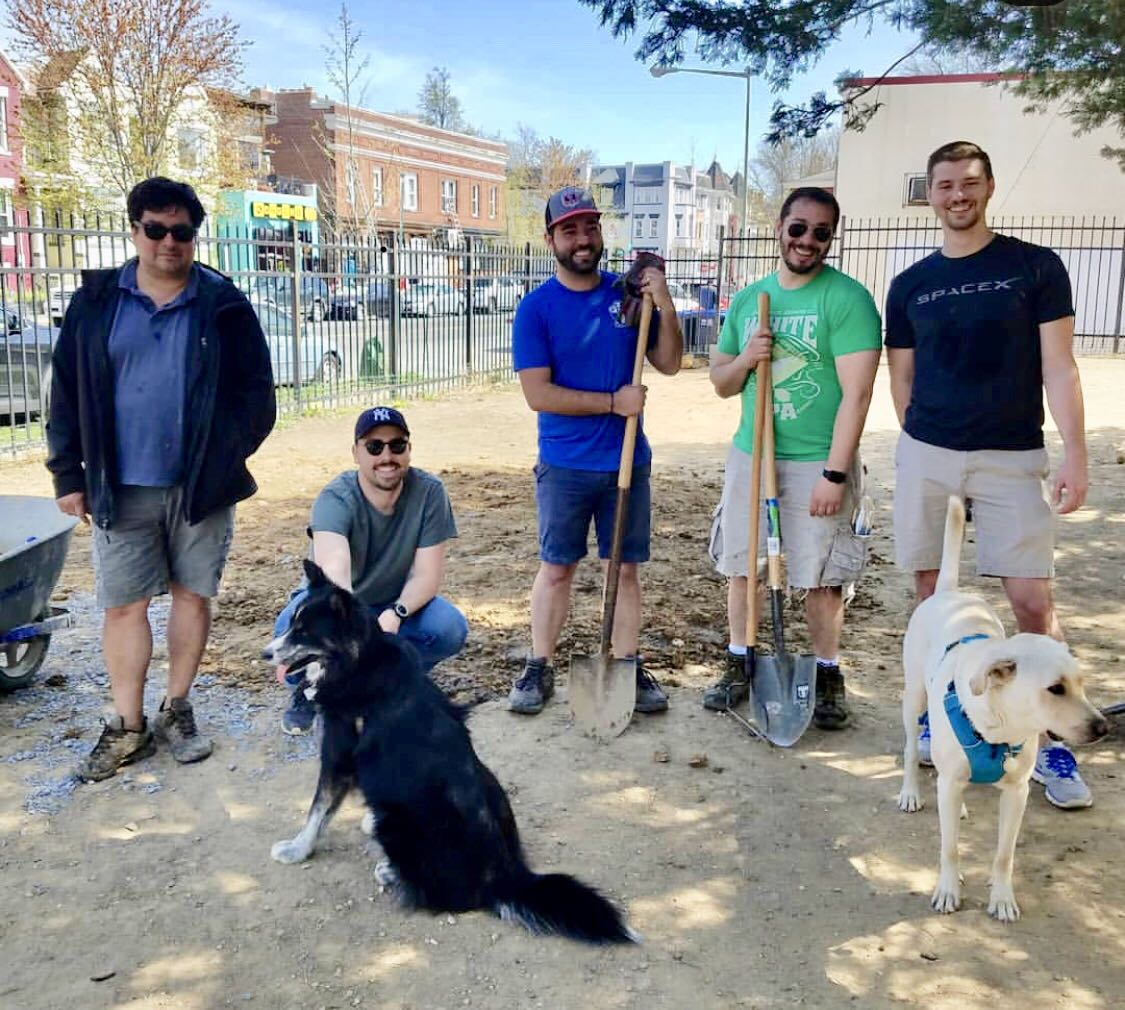 An extra special thanks to the guys who did the digging! (And to Miles and Ivy, who probably also tried to help with the digging.)