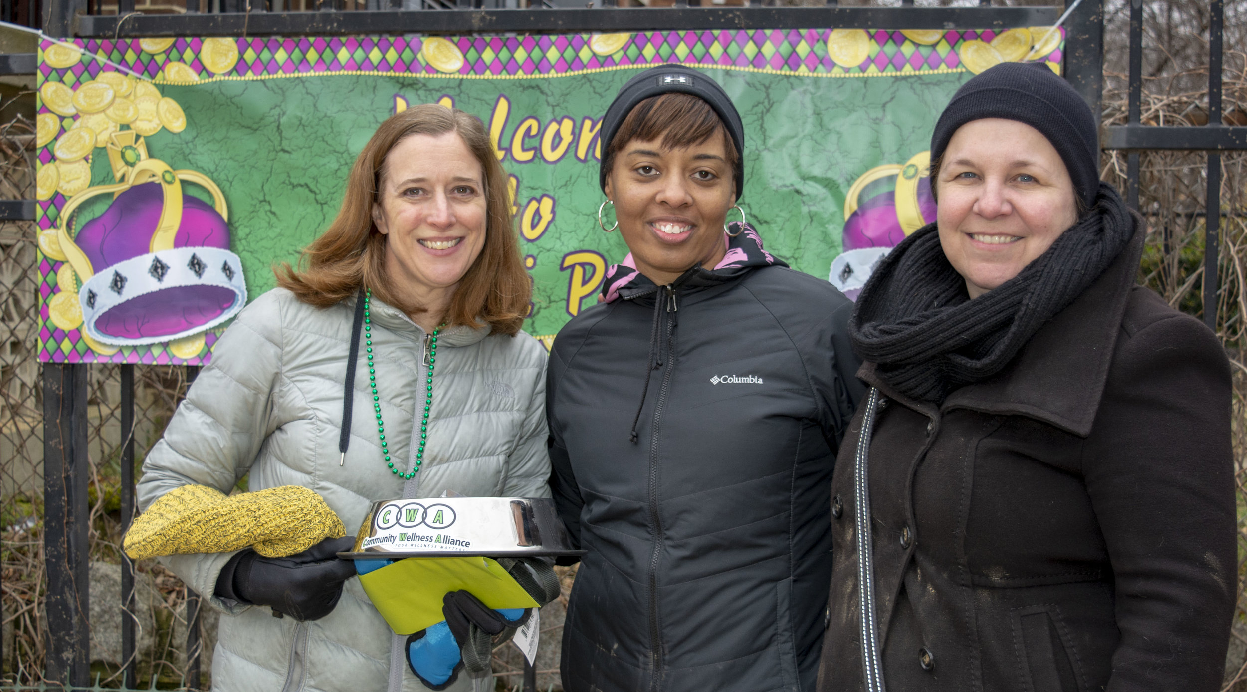 YaVonne Jackson Boyd of CWAC and the North Columbia Heights Civic Association with Lori Robertson and Eva Guenther of 11th and Bark