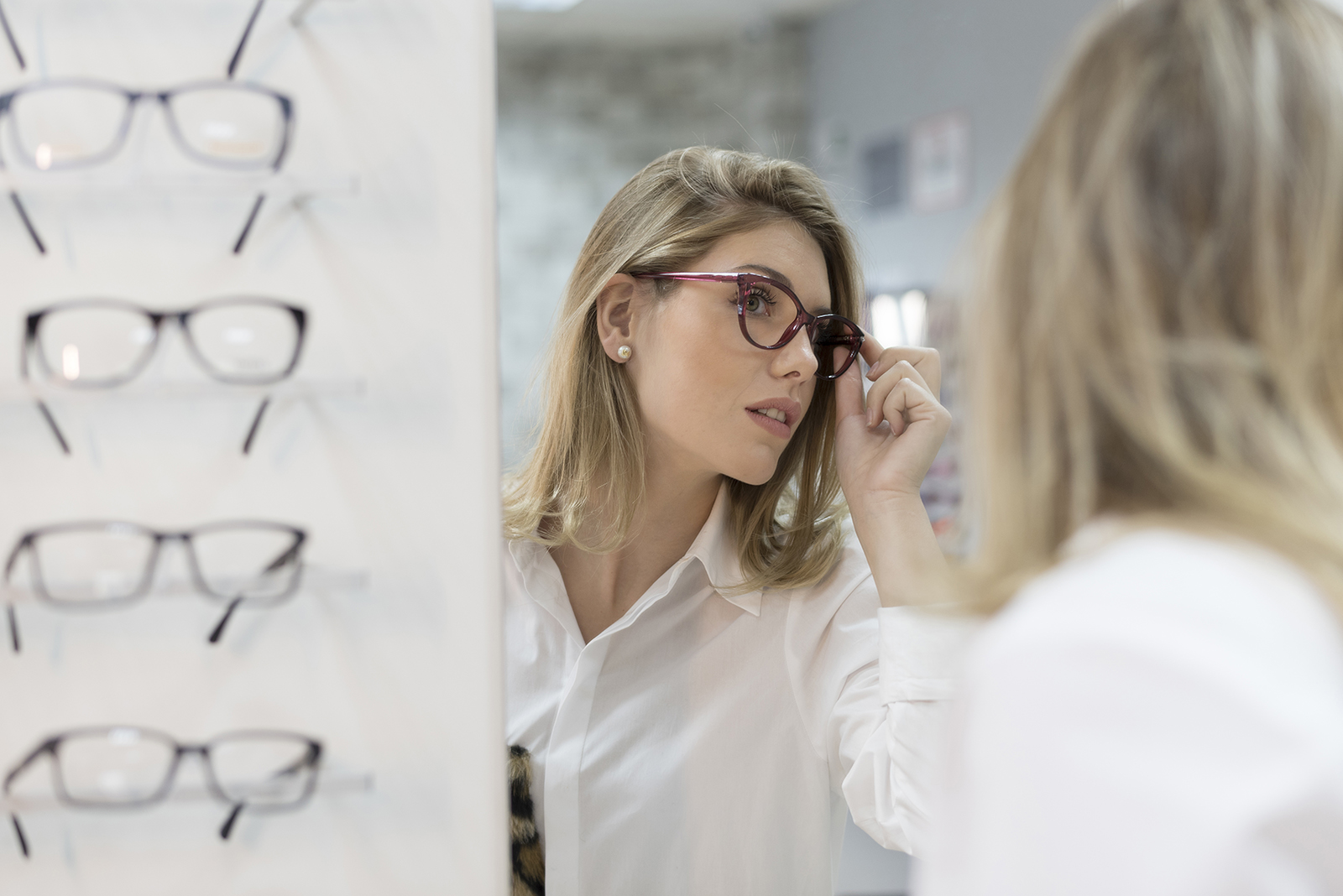 DESIGNER GLASSES - Our team of experts will help select the perfect eye glasses best suited for your face and lifestyle from our large selection of designer glasses! Call 630.855.5542 to schedule a FREE consultation TODAY.