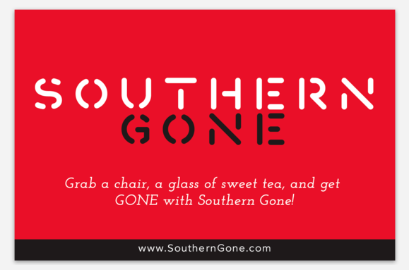 "Southern Gone Bumper Sticker 5.68"" x 3.75""  $6  (includes shipping)"