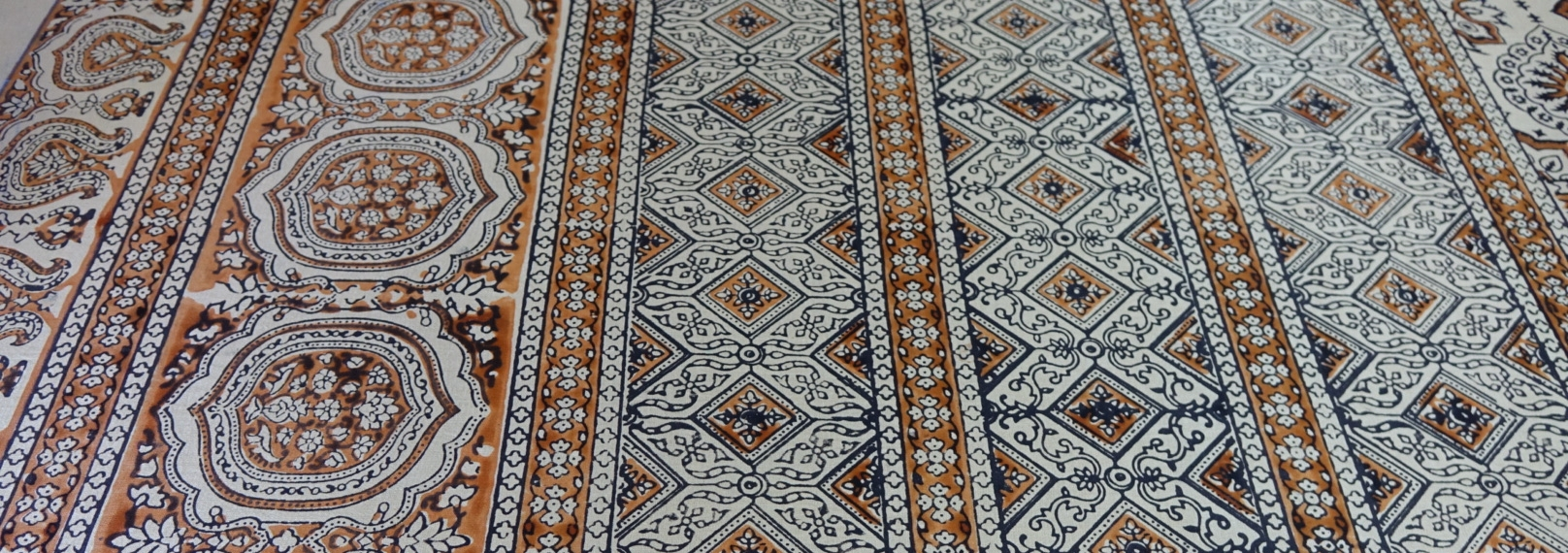 block printed Ajrak fabric with natural dyes