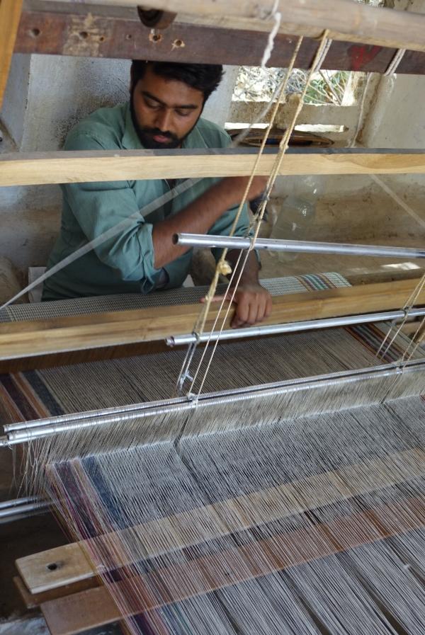 weaving a shawl
