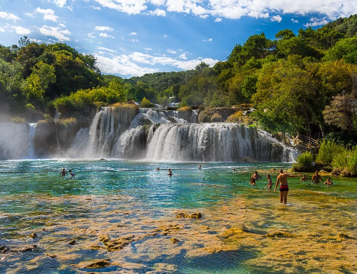 Mid-day: Krka National Park - After packing up, make the 1 hour drive to Krka National Park. The park is full of waterfalls and gorges (wear a bathing suit and bring a towel!), and a river gushing through 200-meter deep canyon. Note - the park has 5 entrances - the closes to Zadar is the Skradin entrance.