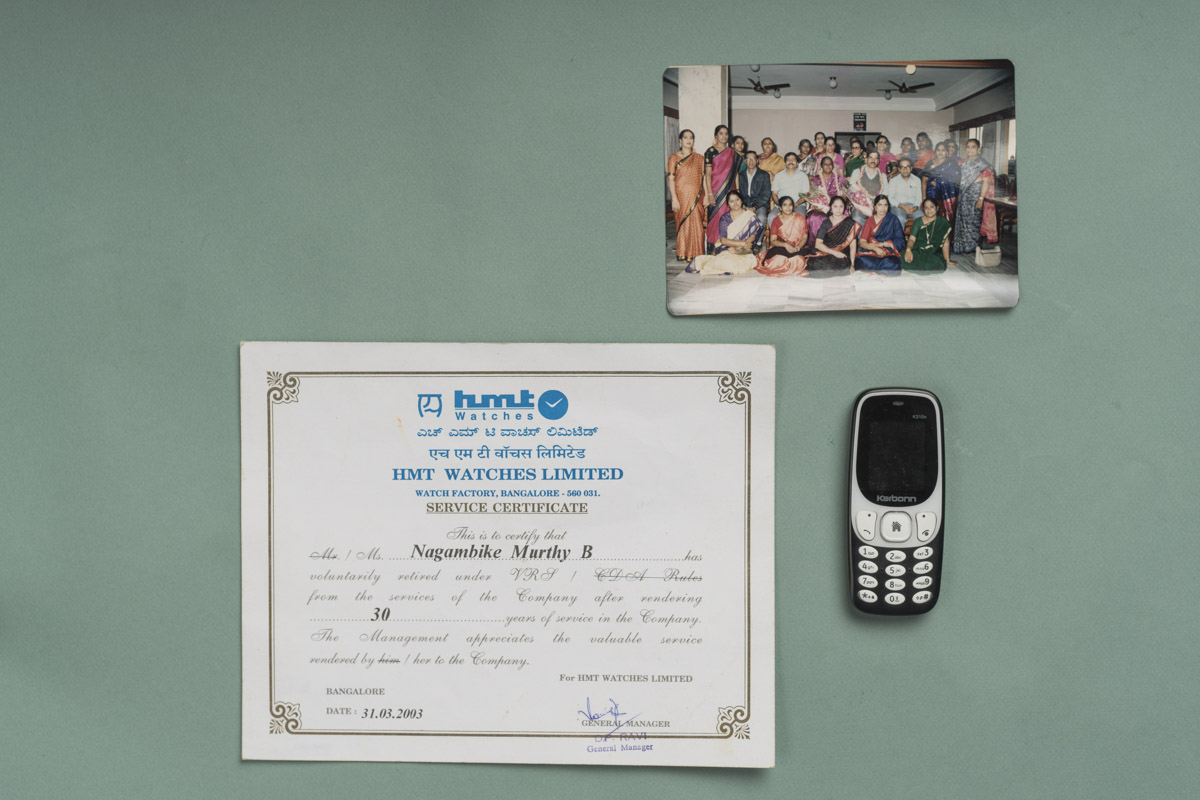Mrs. Murthy's memories from her time at HMT. And her cell phone that she uses to keep time now.