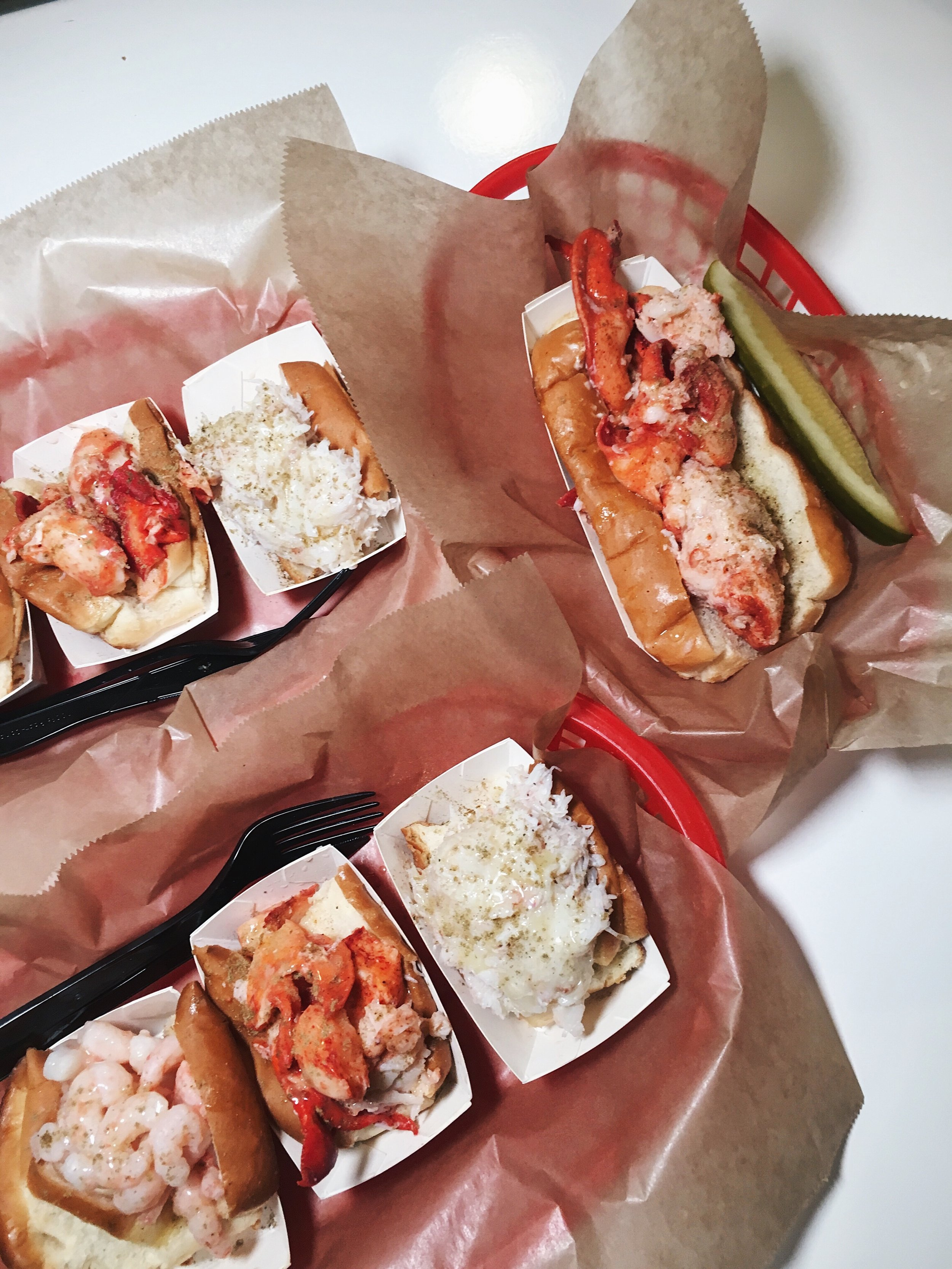My go-to: Luke's Trio and Lobster Roll