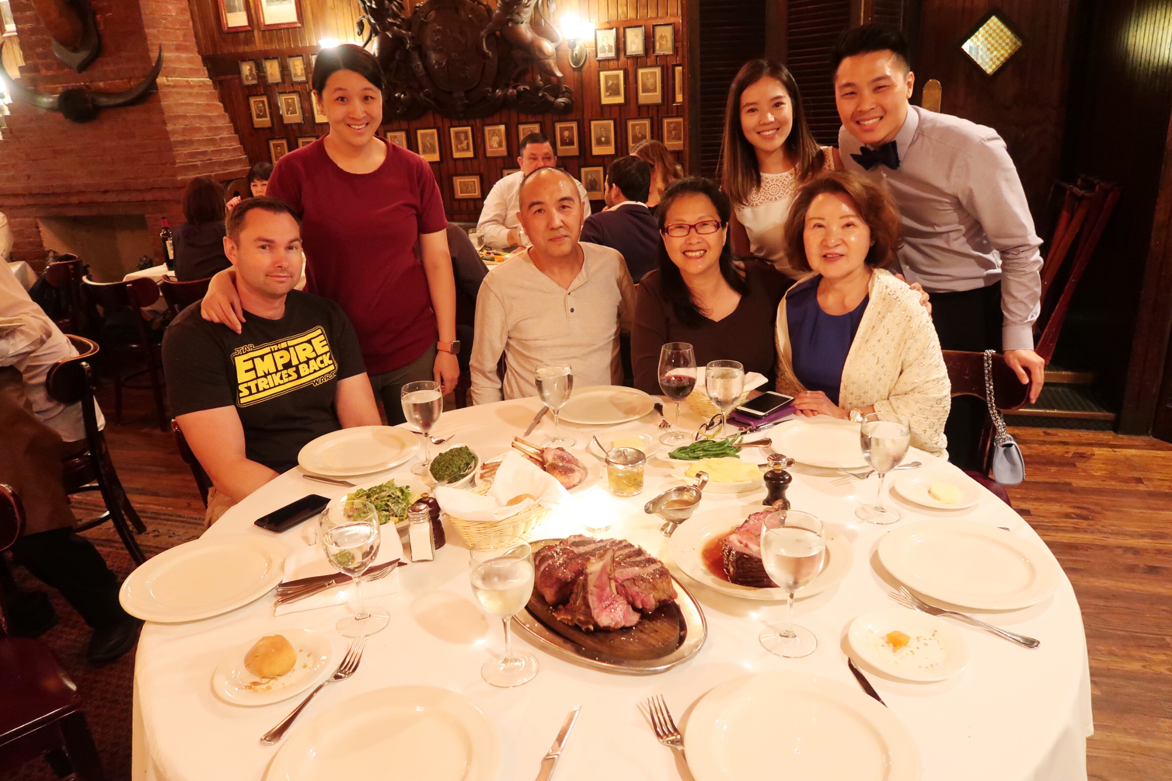 Dinner celebration at Keens Steakhouse