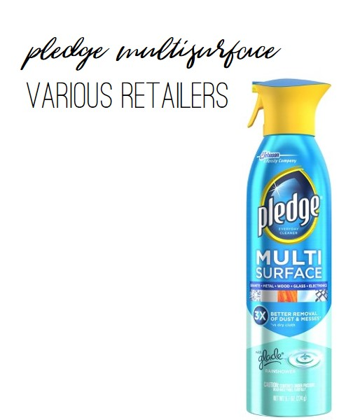 Pledge Multisurface Cleaner is perfect for granite and all other surfaces in your kitchen, including glass and stainless steel.