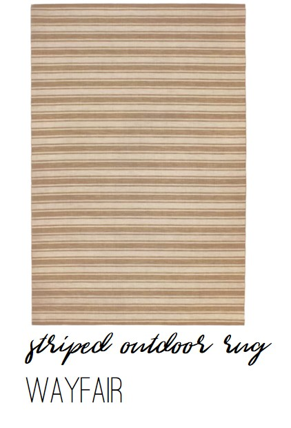 Wayfair Striped Outdoor Rug - Farmhouse Redefined
