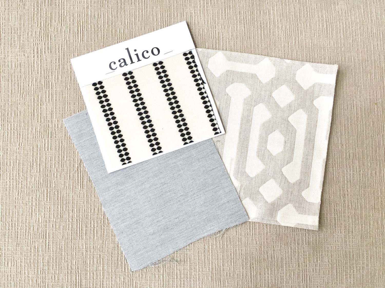 Calico Sunbrella Performance Fabric Swatches for Custom Pillow Covers - Farmhouse Redefined