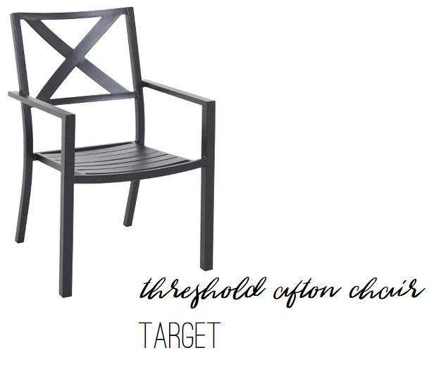 Threshold Afton X-Back Patio Chair by Target