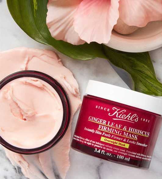 Kiehls Ginger Leaf and Hibiscus Firming Mask.