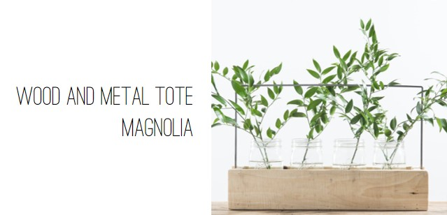 Magnolia Wood and Metal Tote.