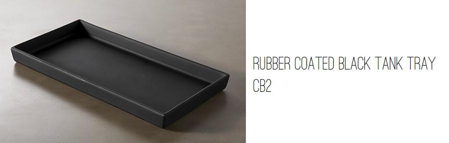 CB2 Rubber Coated Black Tank Tray.