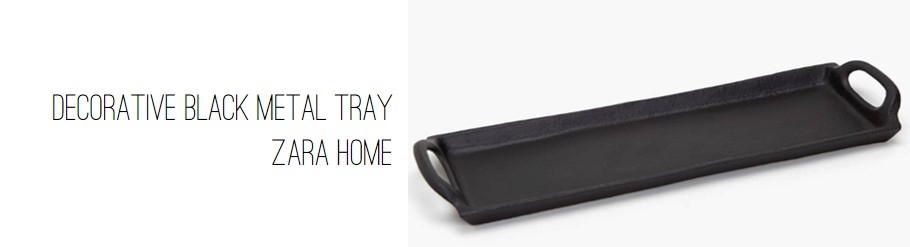 Zara Home Decorative Black Metal Tray.