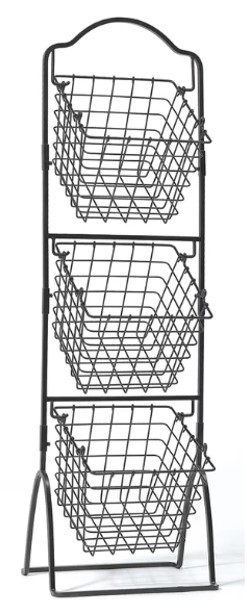 Joss and Main 3-Tier Metal Basket Stand.
