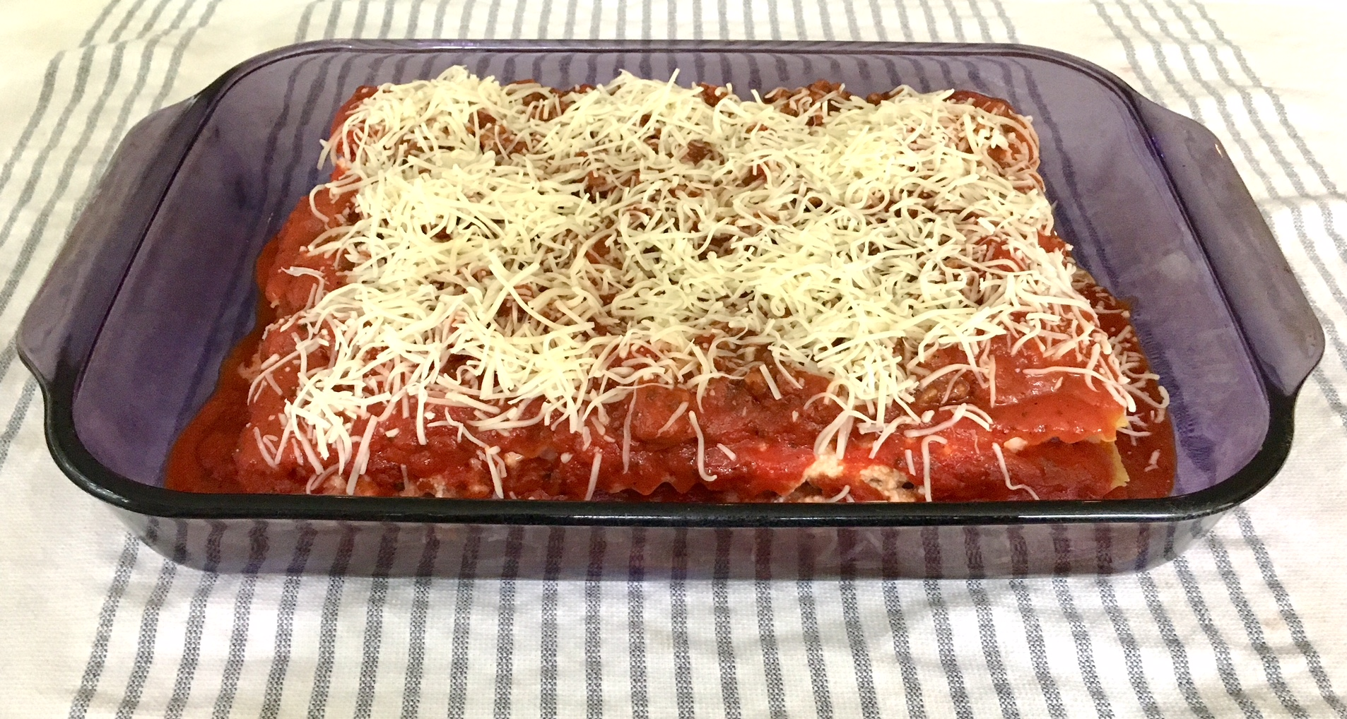 The World's Best (and Easiest!) Lasagna, as photographed by me, a definite NON-food photographer!