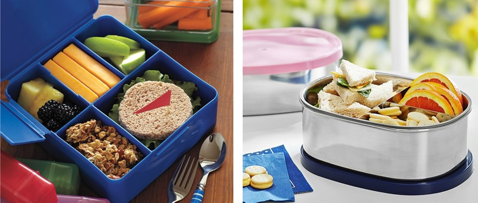 Pottery Barn Kids Bento Lunch Boxes.