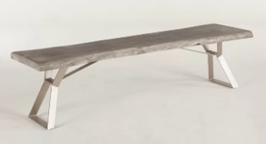 Nottingham Wood Bench in Weathered Gray by Perigold.