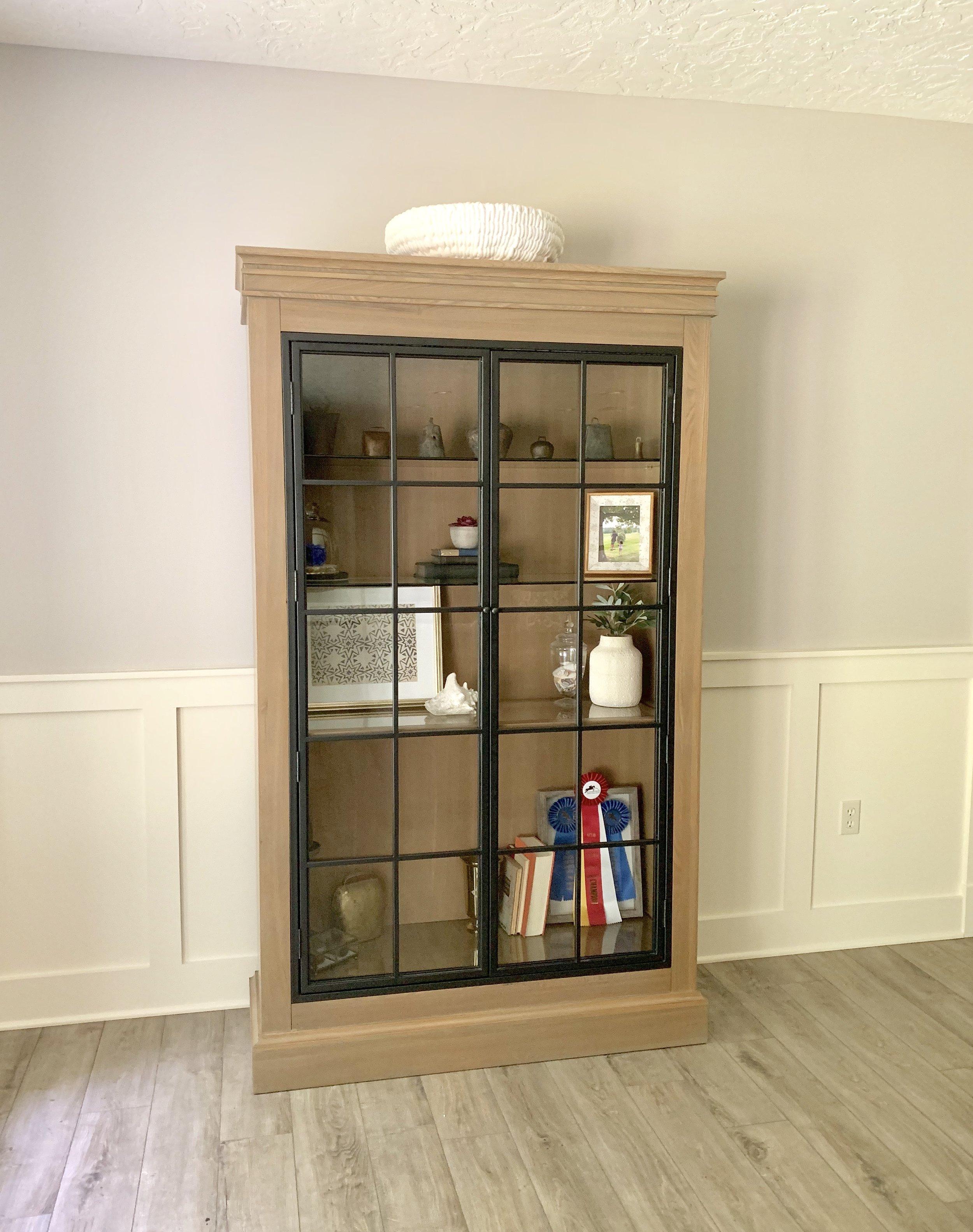 Ballard Designs Delano Iron Door Cabinet with modern farmhouse décor. Farmhouse Redefined.