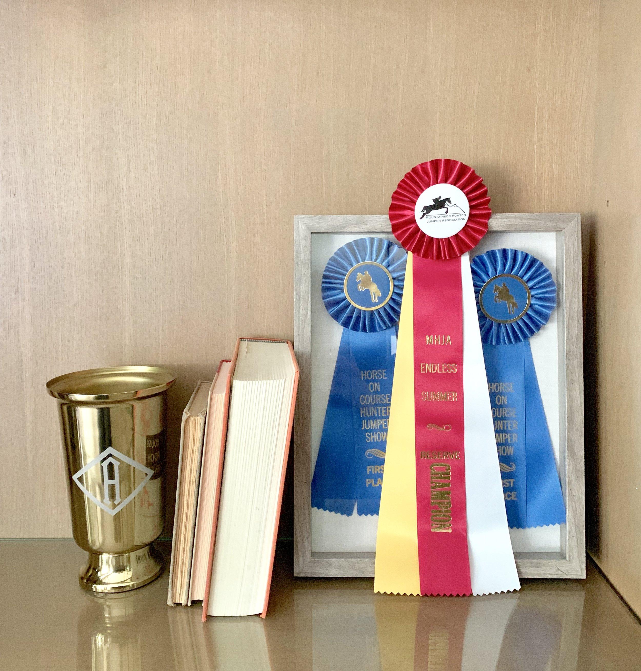 Monogrammed vase shelf décor featuring Ballard Designs Amelia Vase. Farmhouse Redefined.