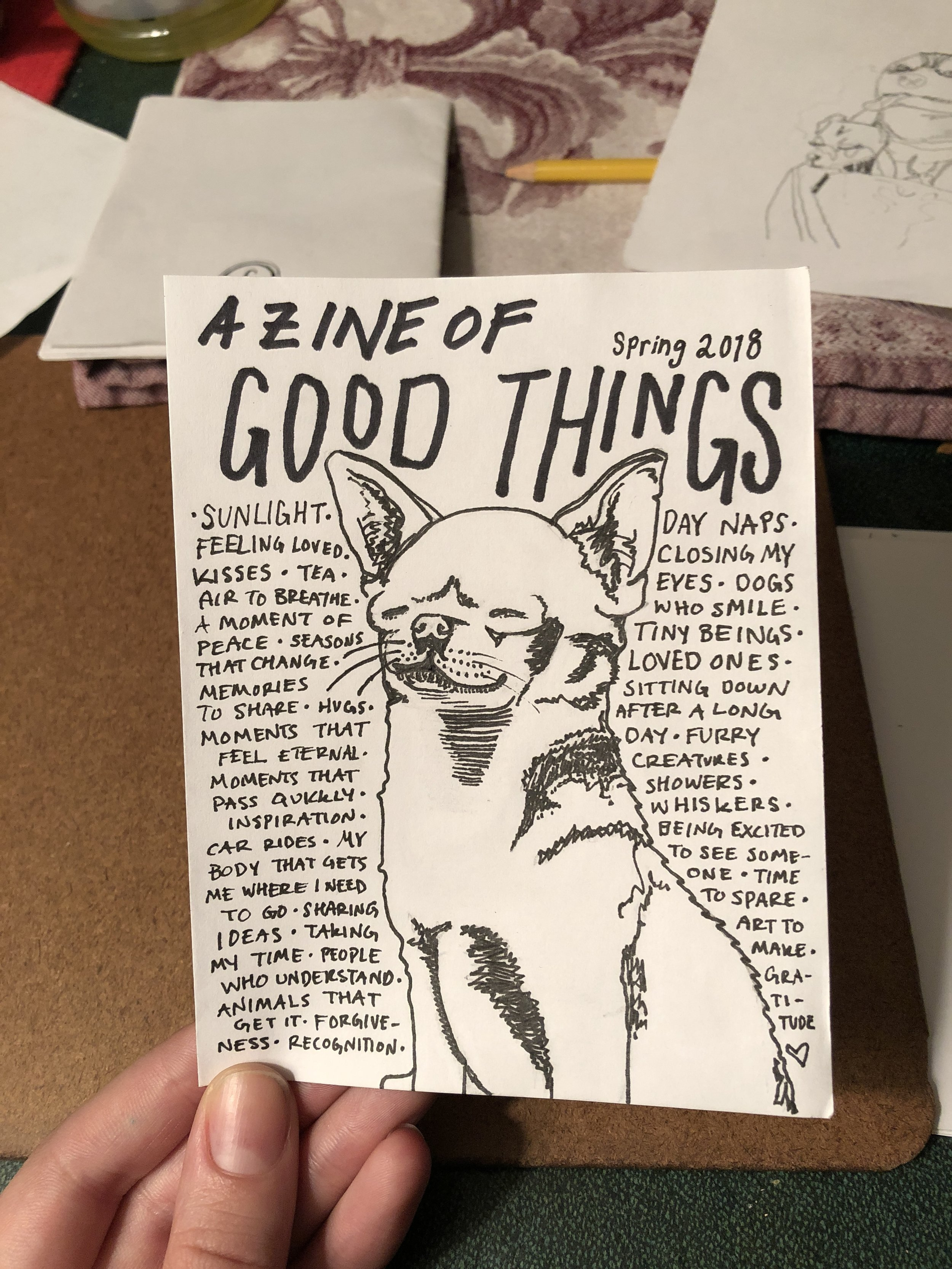 a zine of good things—cover.