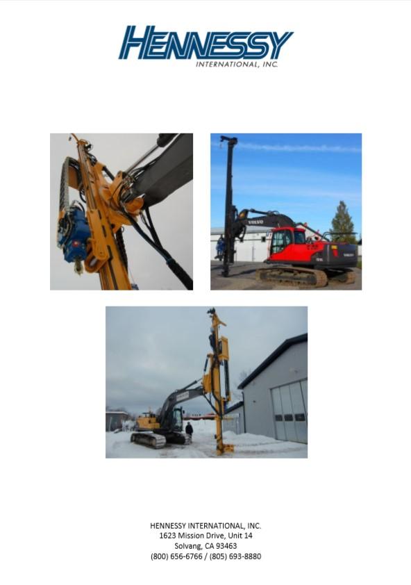 DM85 Drilling Mast Attachment Brochure