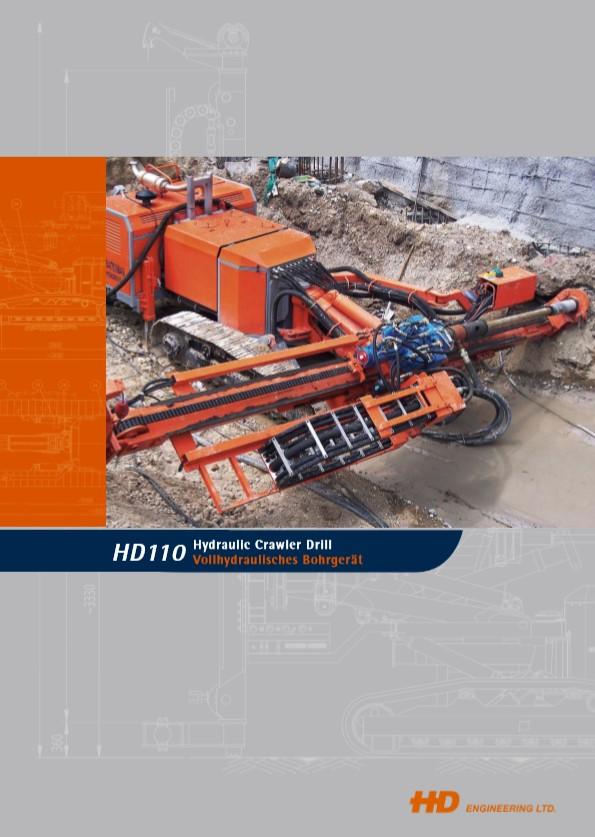 HD110 Hydraulic Crawler Drill Brochure