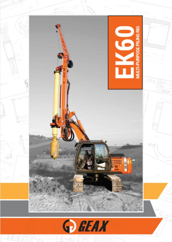 GEAX EK60 Multi-Purpose Piling Rig Brochure