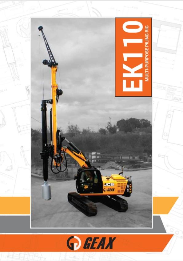 GEAX EK110 Multi-Purpose Piling Rig Brochure