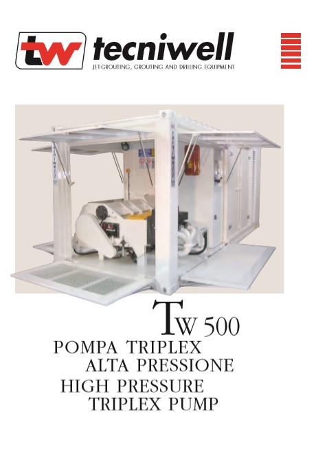Tecniwell TW 500 High Pressure Triplex Pump Brochure