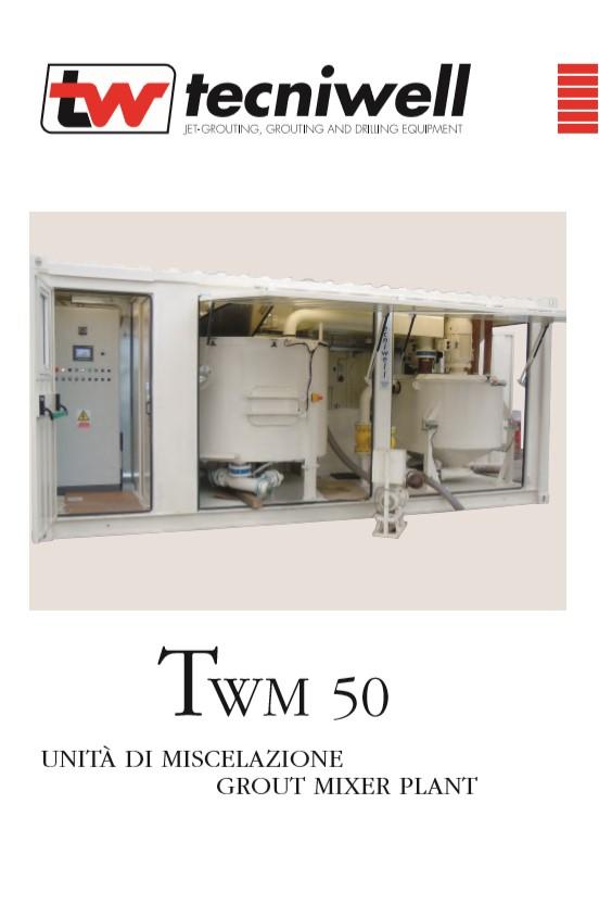 Tecniwell TWM 50 Grout Mixer Plant Brochure