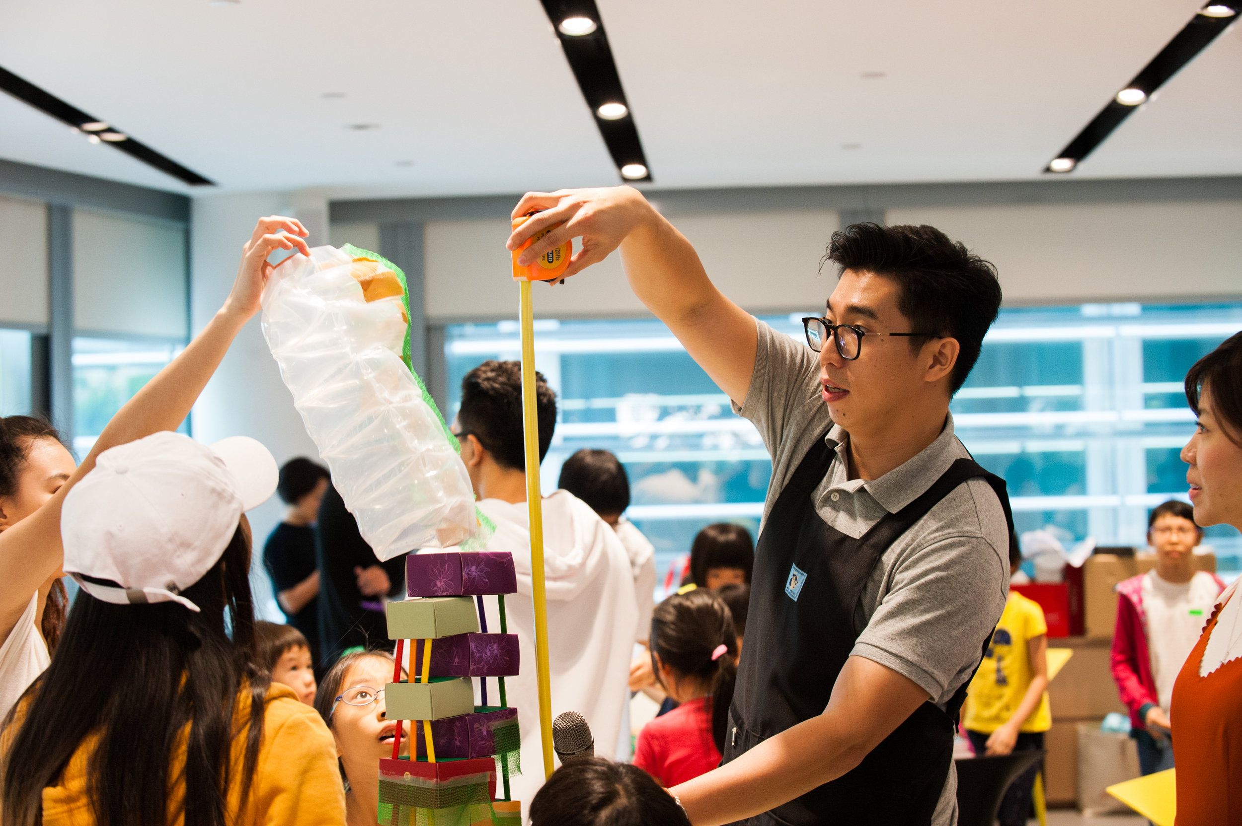 Archifest 2017 measuring the height of the tower.jpg