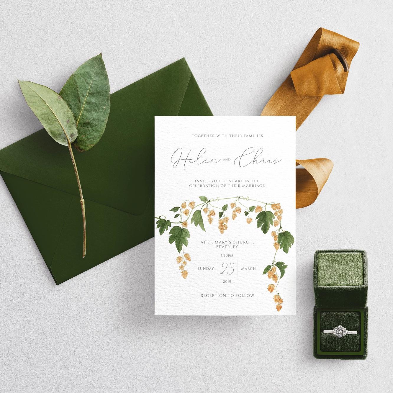 Hops Wedding Stationery