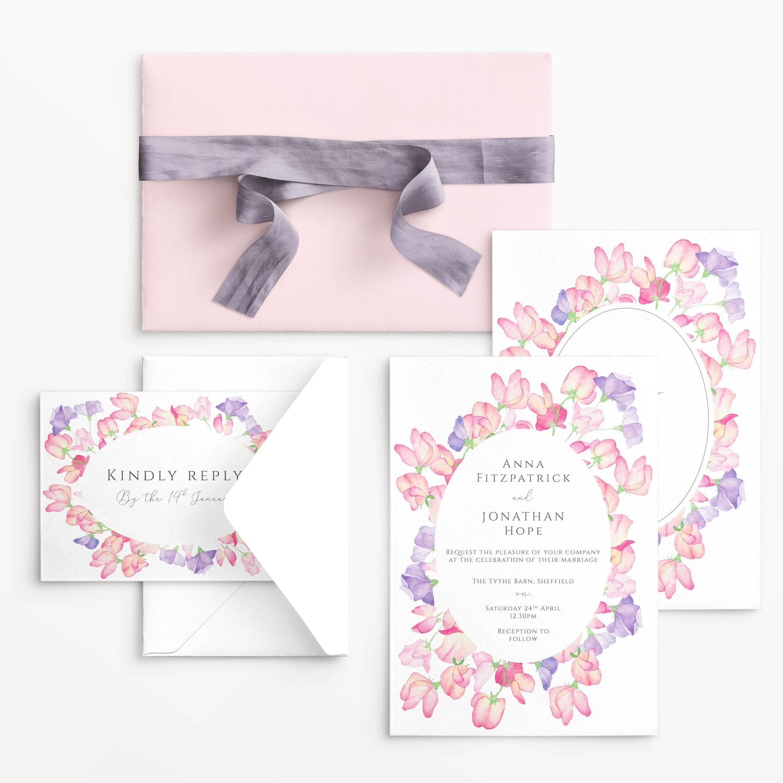 Sweet Pea Wedding Stationery